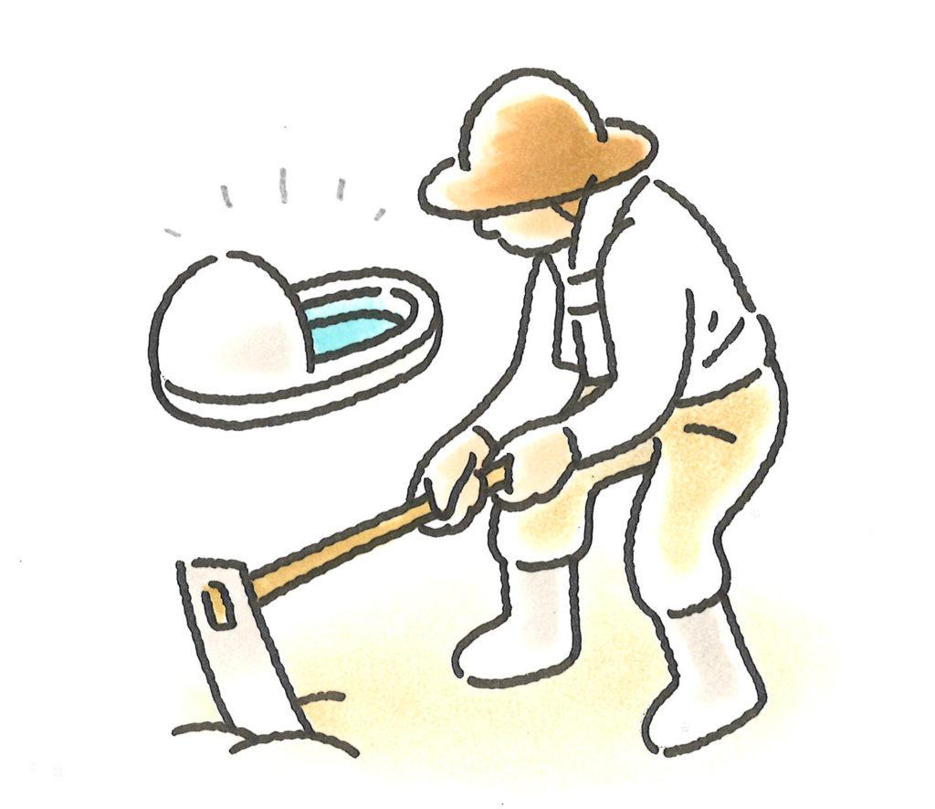 和式トイレ農作業