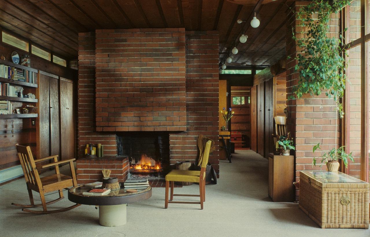 ユーソニアンハウスの暖炉