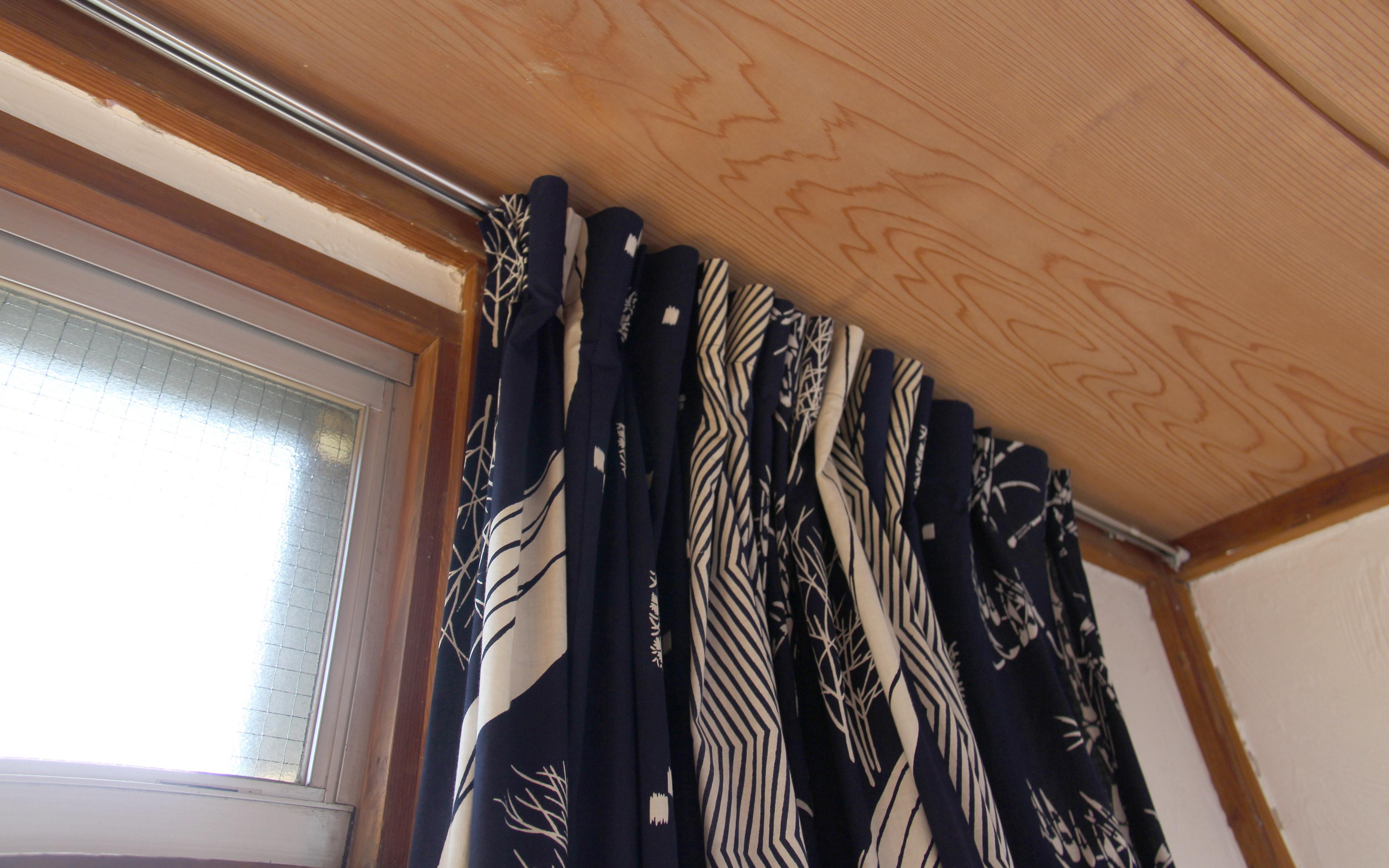 楽多舎のカーテン