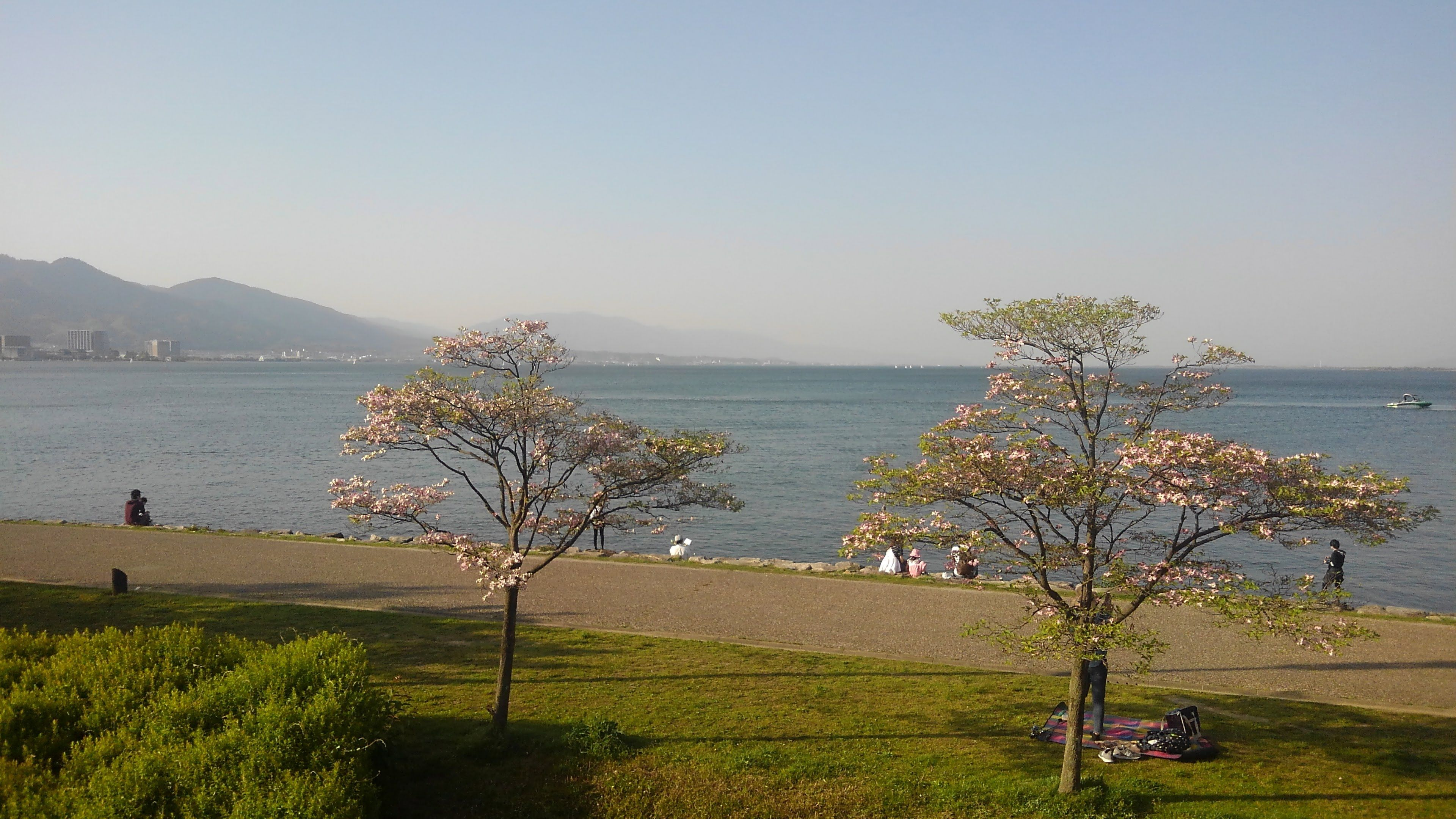 琵琶湖の坂本