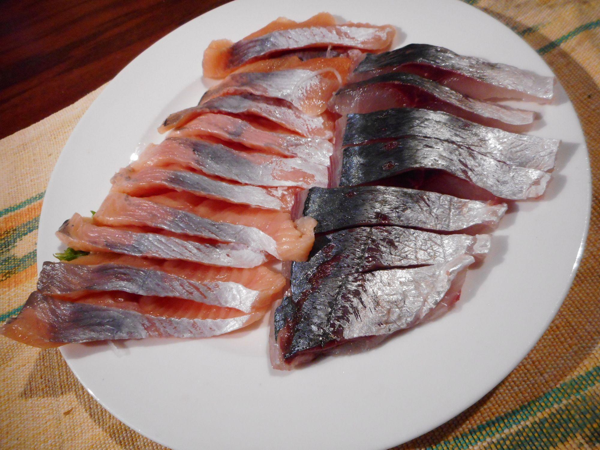 桜鱒の刺身