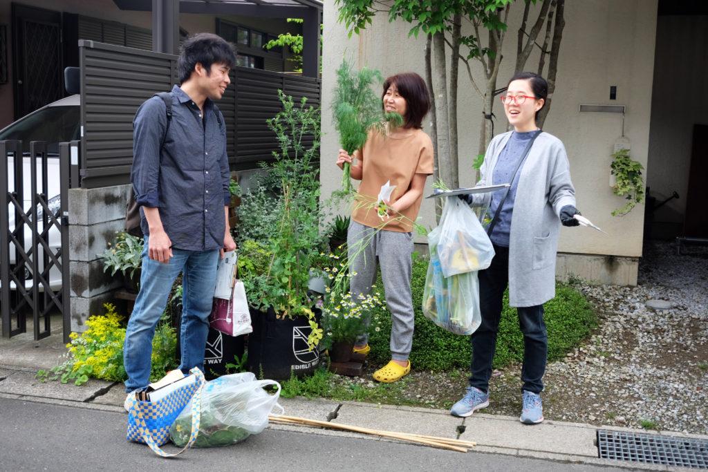 千葉大学園芸学部の学生と松戸の市民でエディブルランドスケープを作る