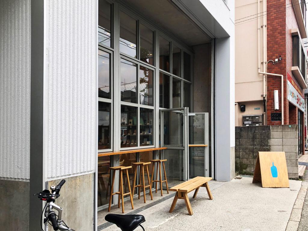 ブルーボトルコーヒー 中目黒カフェ (Blue Bottle coffee )店の入り口