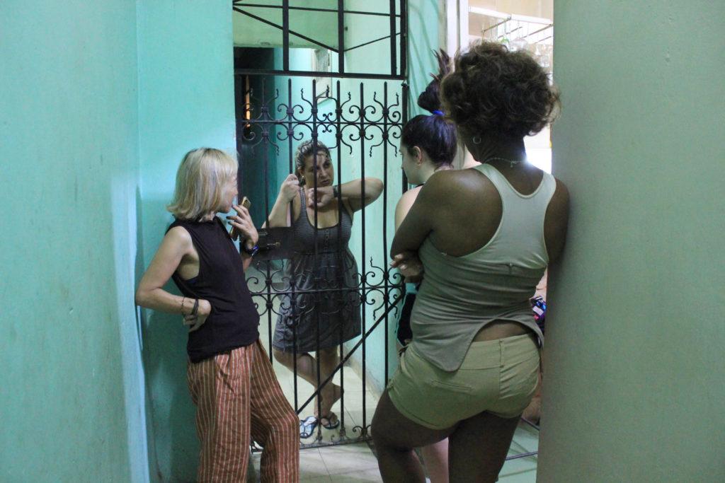 キューバの井戸端会議
