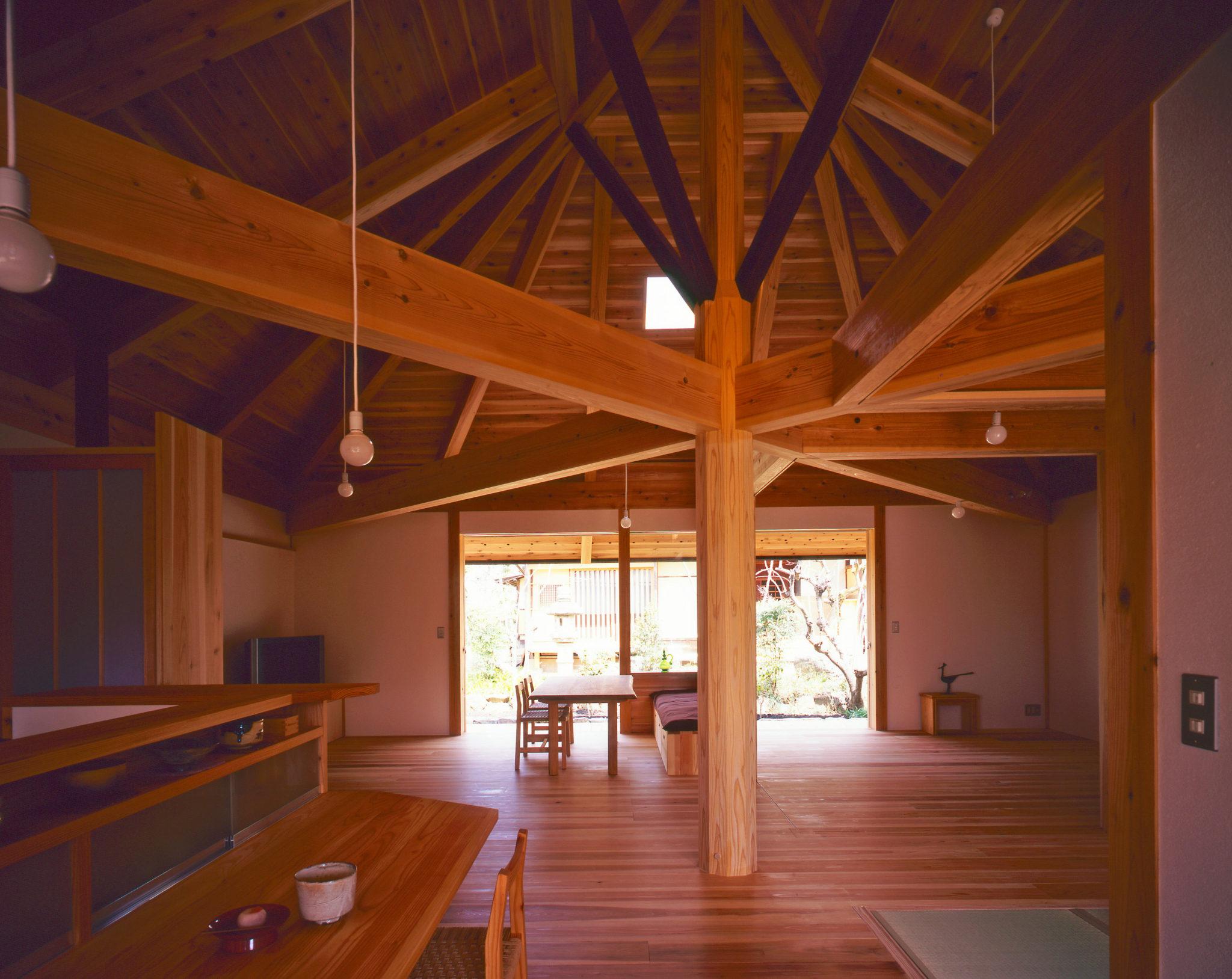 Ms建築設計事務所三澤文子設計の傘の家のキッチンからの景色