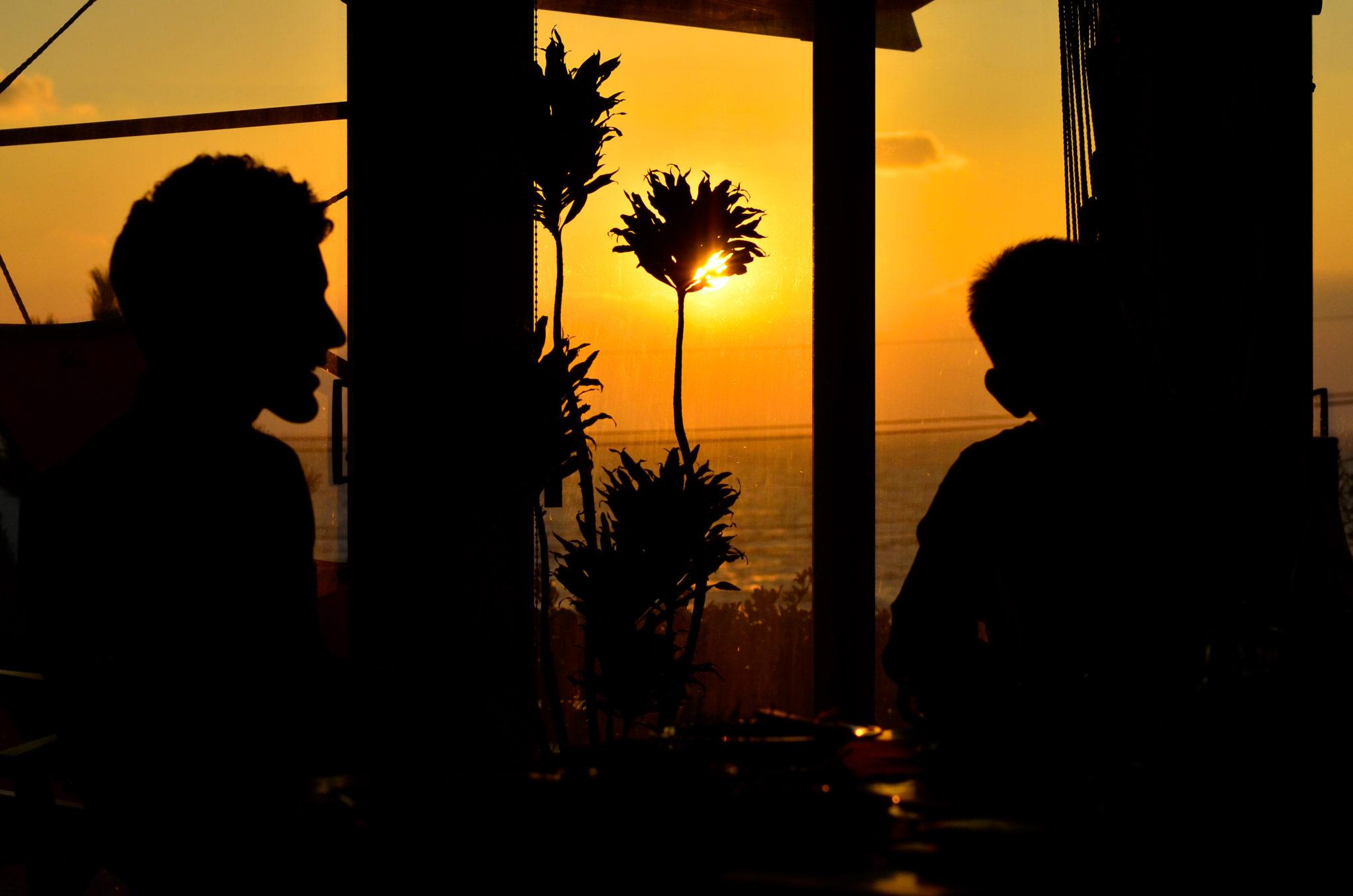 鹿児島県日置市の夕焼けが綺麗が景色