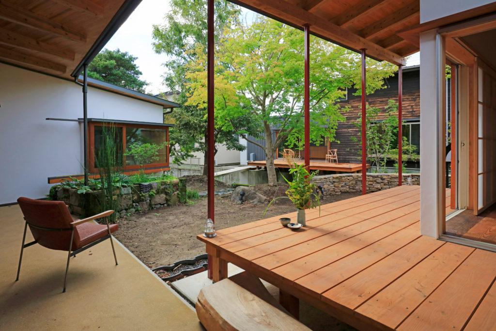 ぷらん・にじゅういち(趙海光)設計現代町家の離れの外観