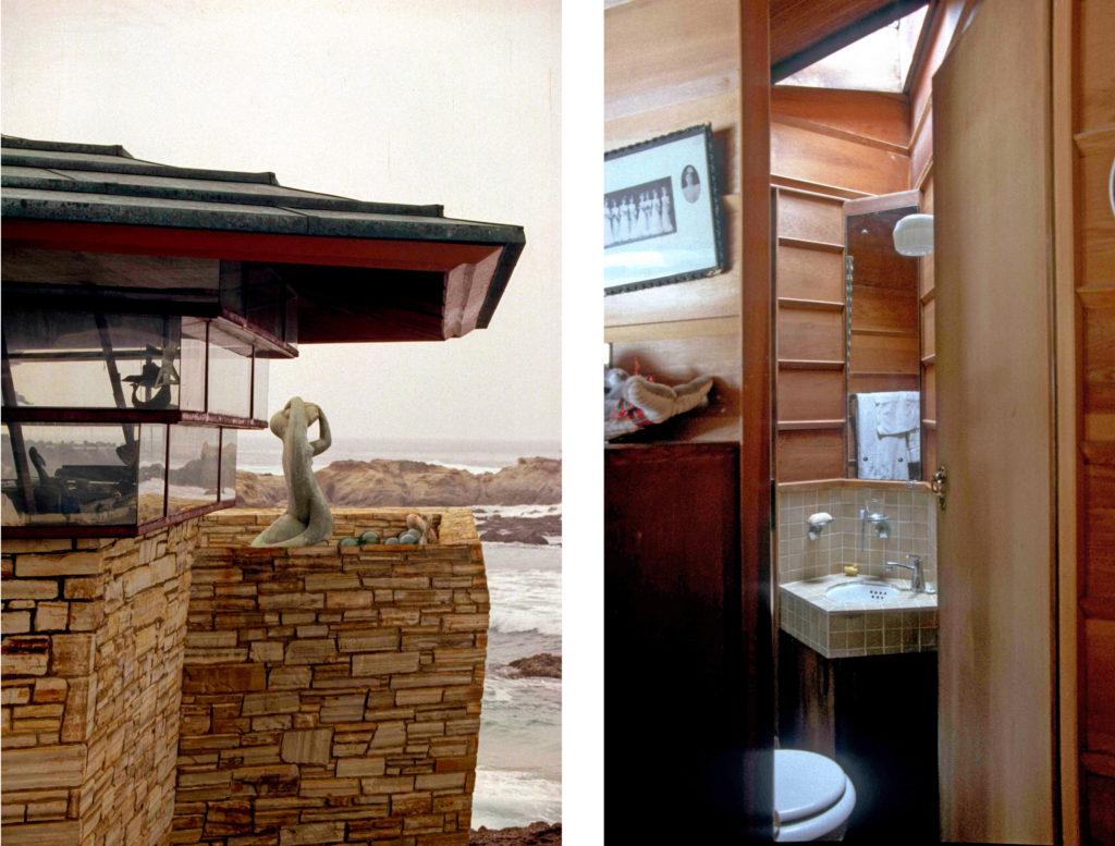 walker邸岩の上のキャビンのトイレ