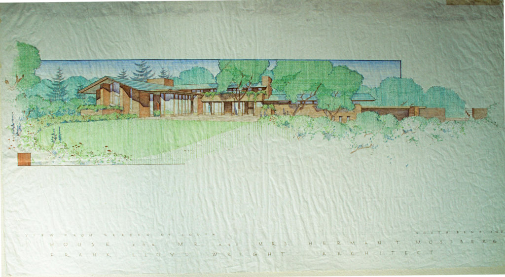 フランク・ロイド・ライト作の透視図