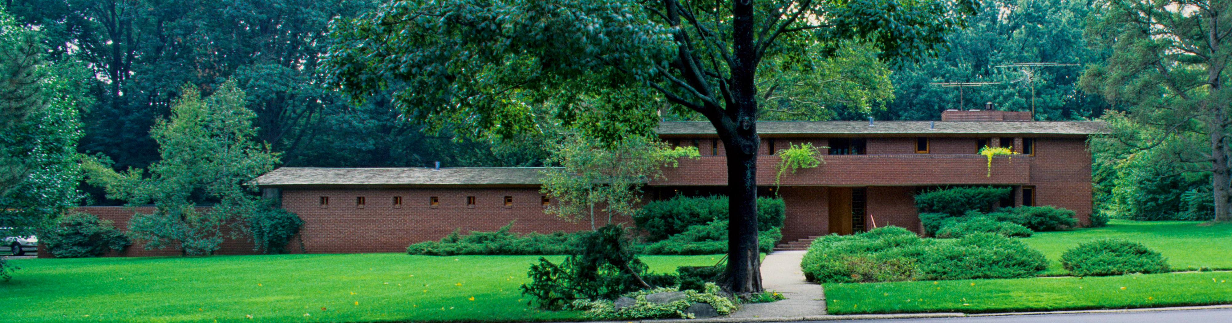 フランク・ロイド・ライト大きなユーソニアン・ハウスMossberg邸(1948年)