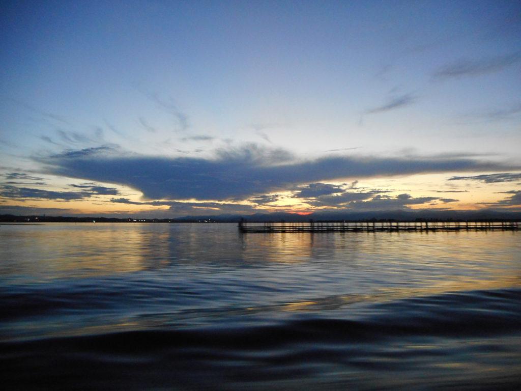 浜名湖の夕焼け