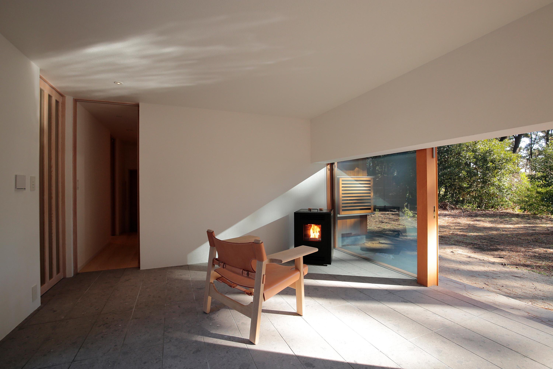 ono設計春霞の家の玄関ホール