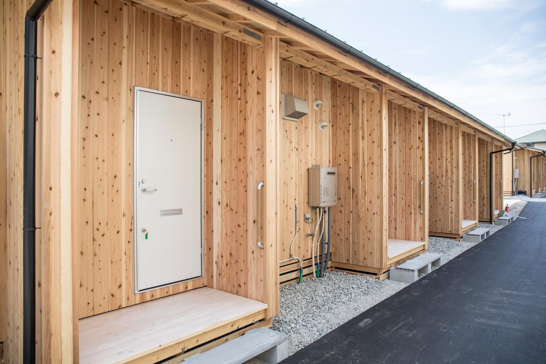 木造応急仮設住宅の玄関
