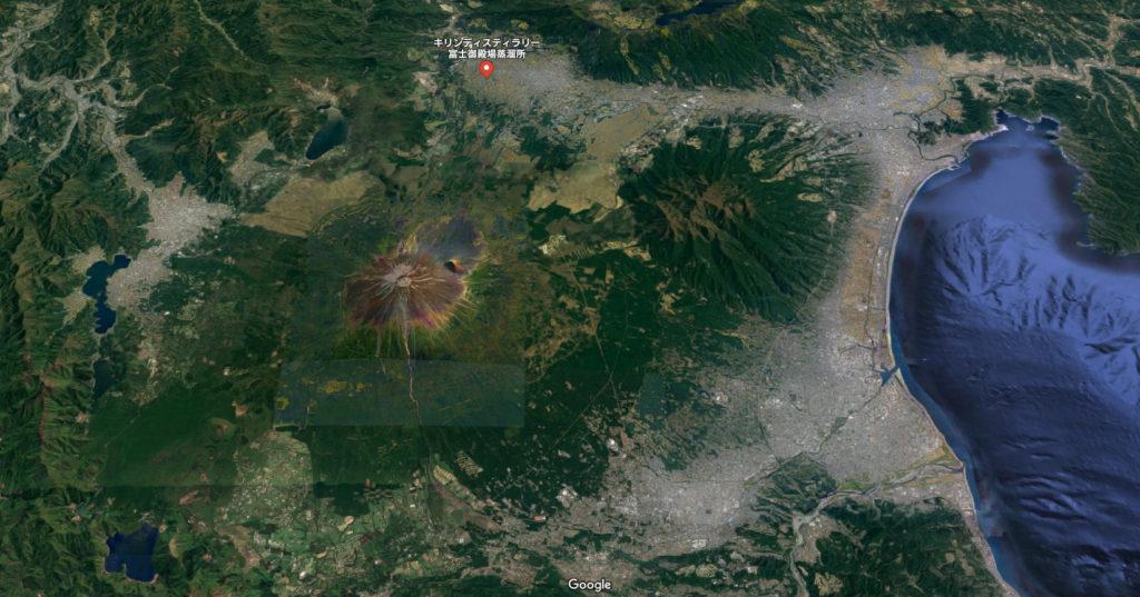 キリンディスティラリー富士御殿場蒸溜所の地図