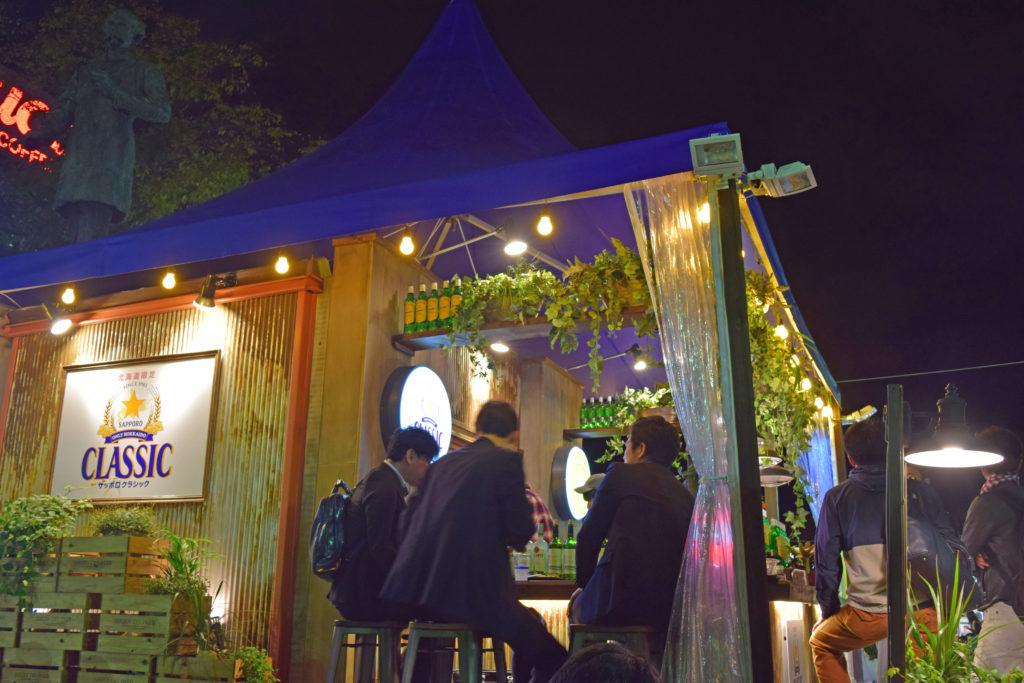 サッポロビールの屋台