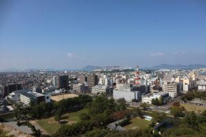 丸亀城からの景色