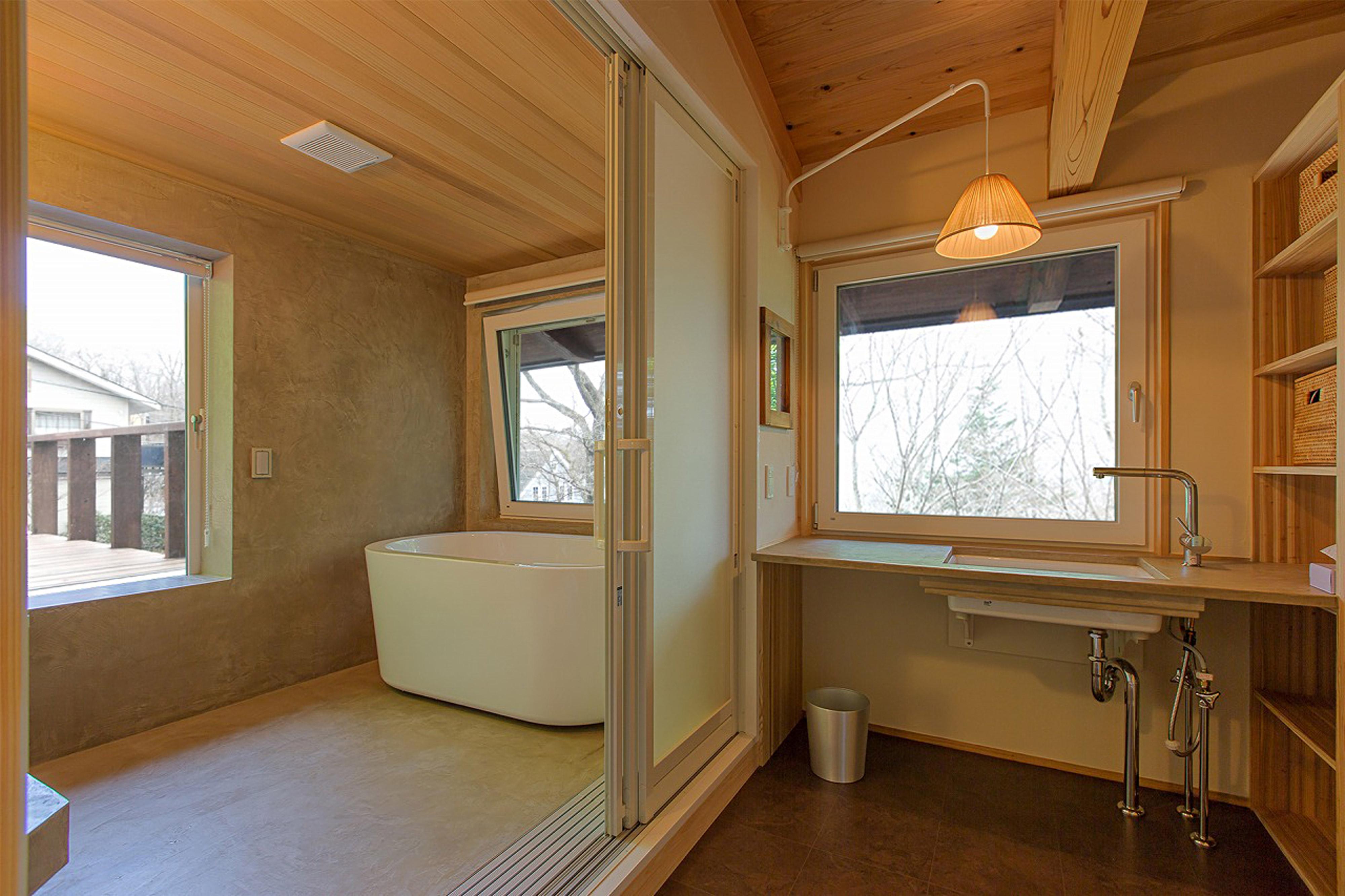 家事動線のいい脱衣所と浴室