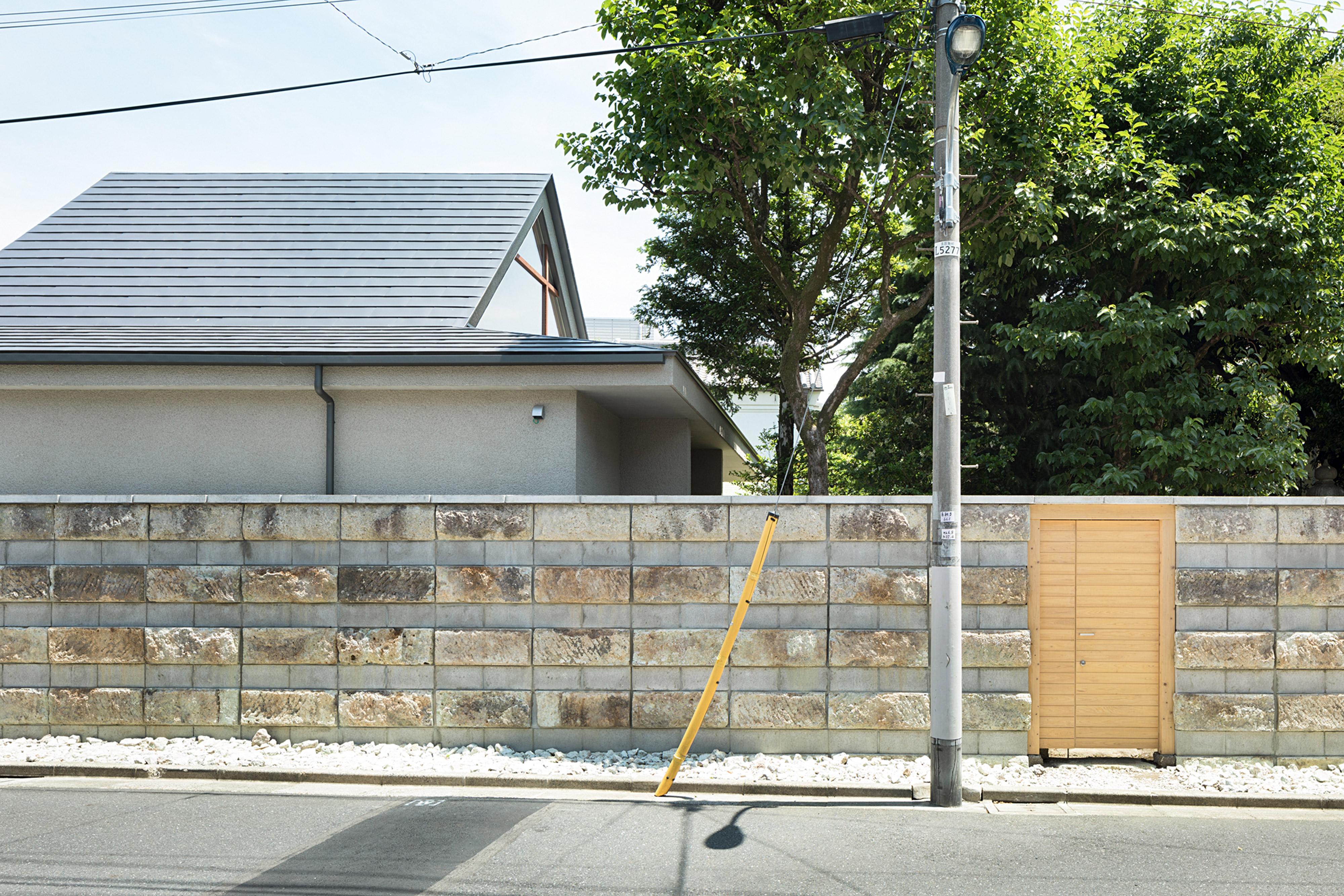 大谷石のブロック塀