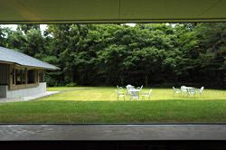 芝生の中庭