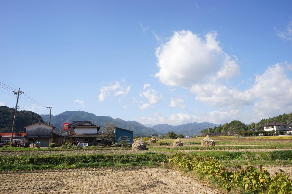 米どころ由布市庄内町