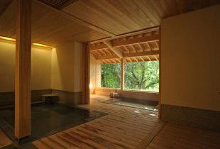 高原グルメのホテルの温泉
