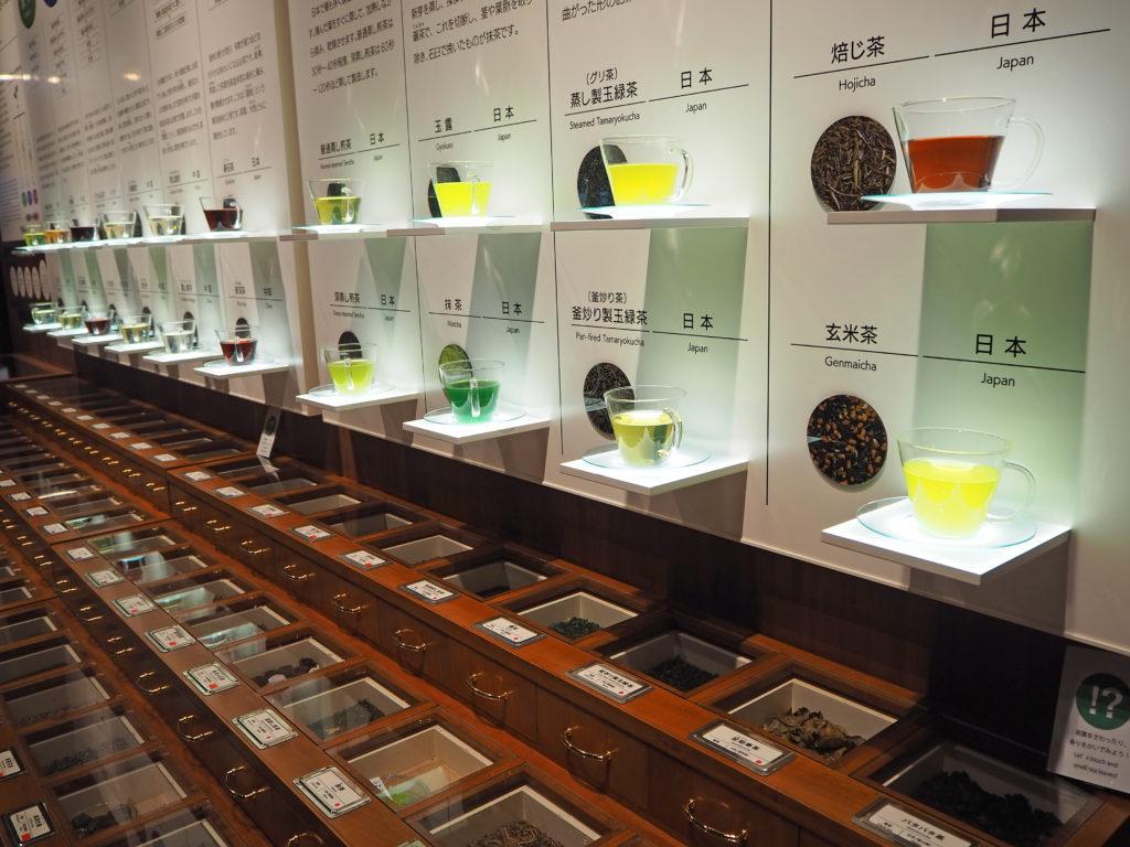 お茶専門の県立博物館のお茶の香り体験