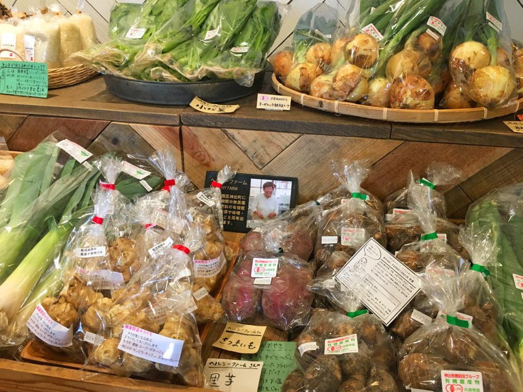 野菜の生産者の顔写真も陳列