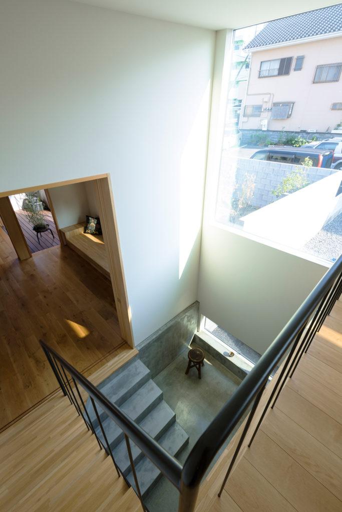 スキップフロアの階段