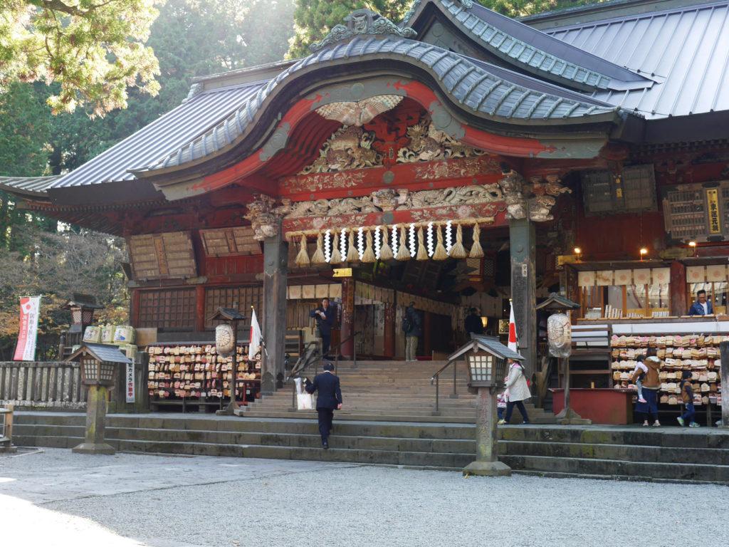 北口本宮冨士浅間神社の境内