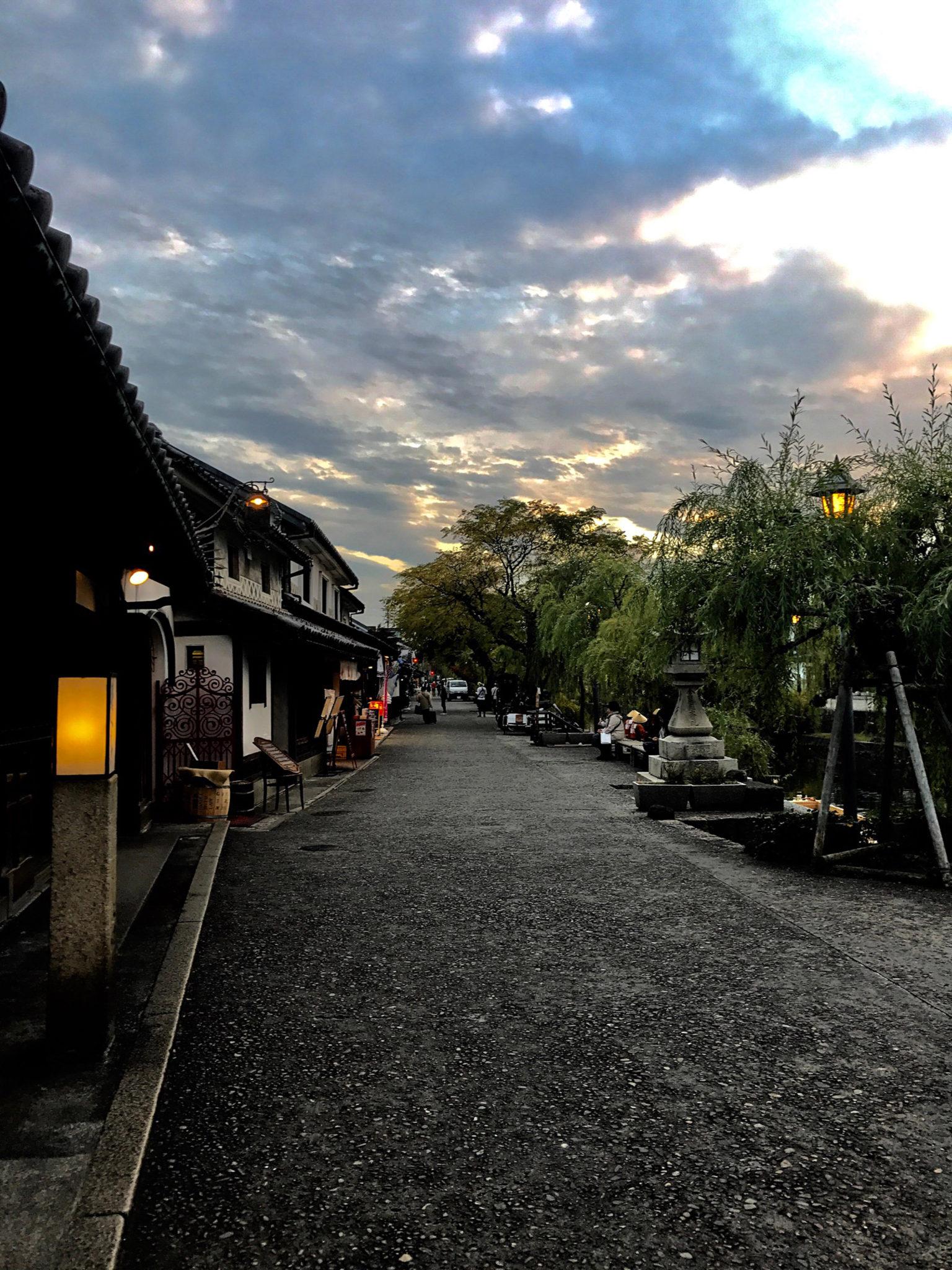 夕暮れの倉敷美観地区