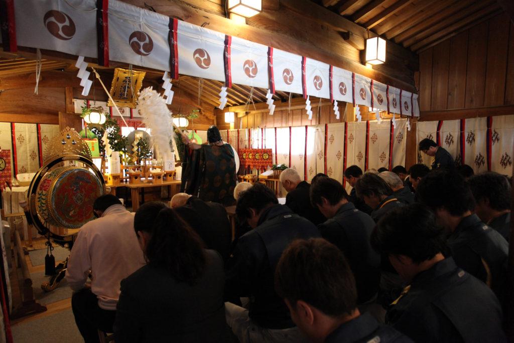 天津神社の安全祈願