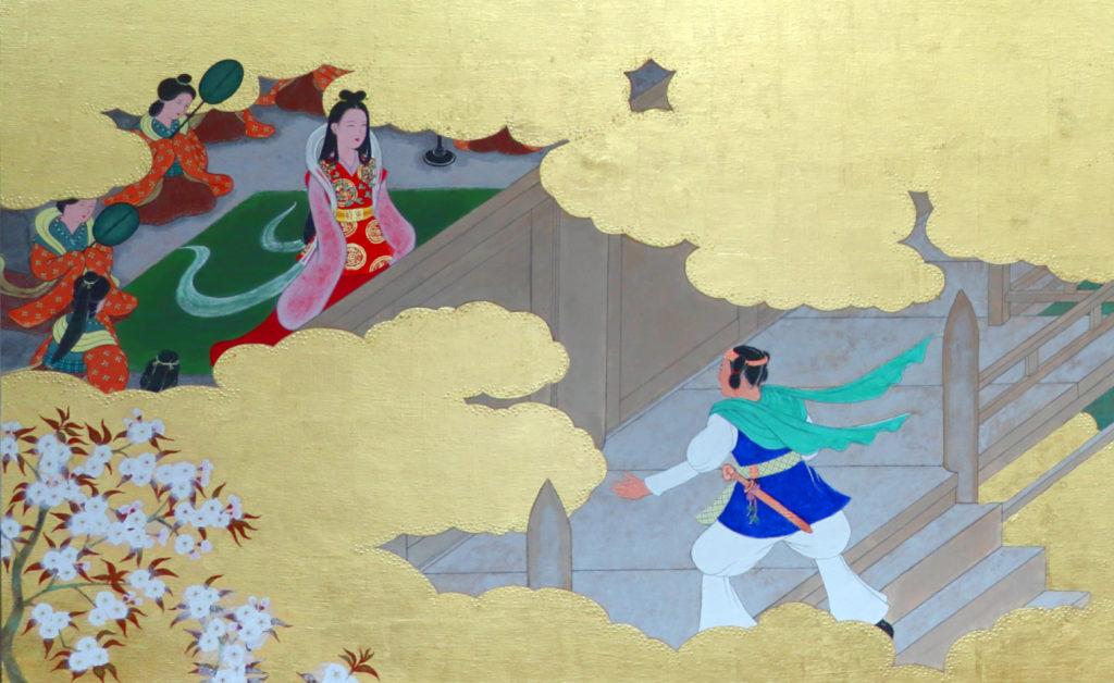 古事記で八千矛神が沼河比売に求婚する場面 作:川崎日香浬氏
