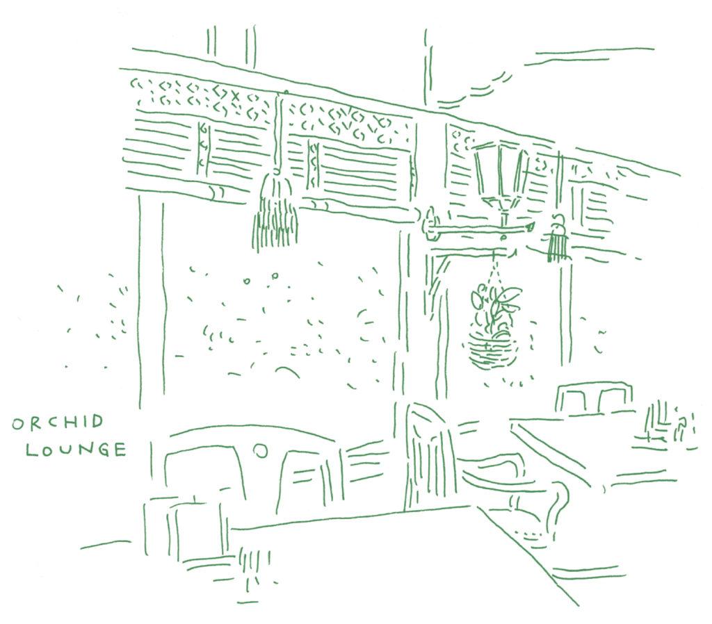 富士屋ホテルのラウンジしゅんしゅん画
