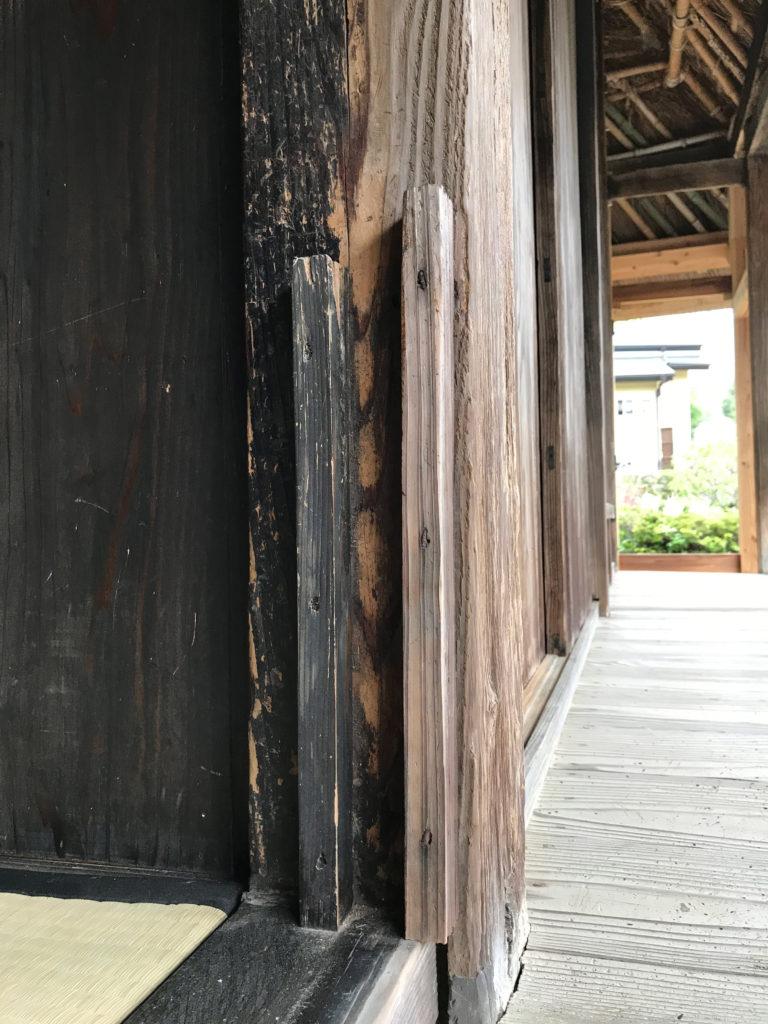 後藤家住宅の壁を外せる窓の設備