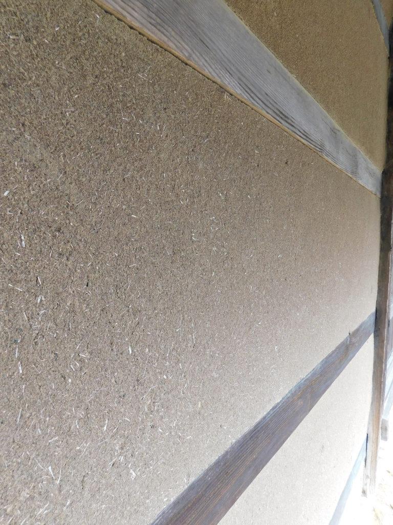 大分の最古の民家で国の重要文化財の後藤家住宅の土壁
