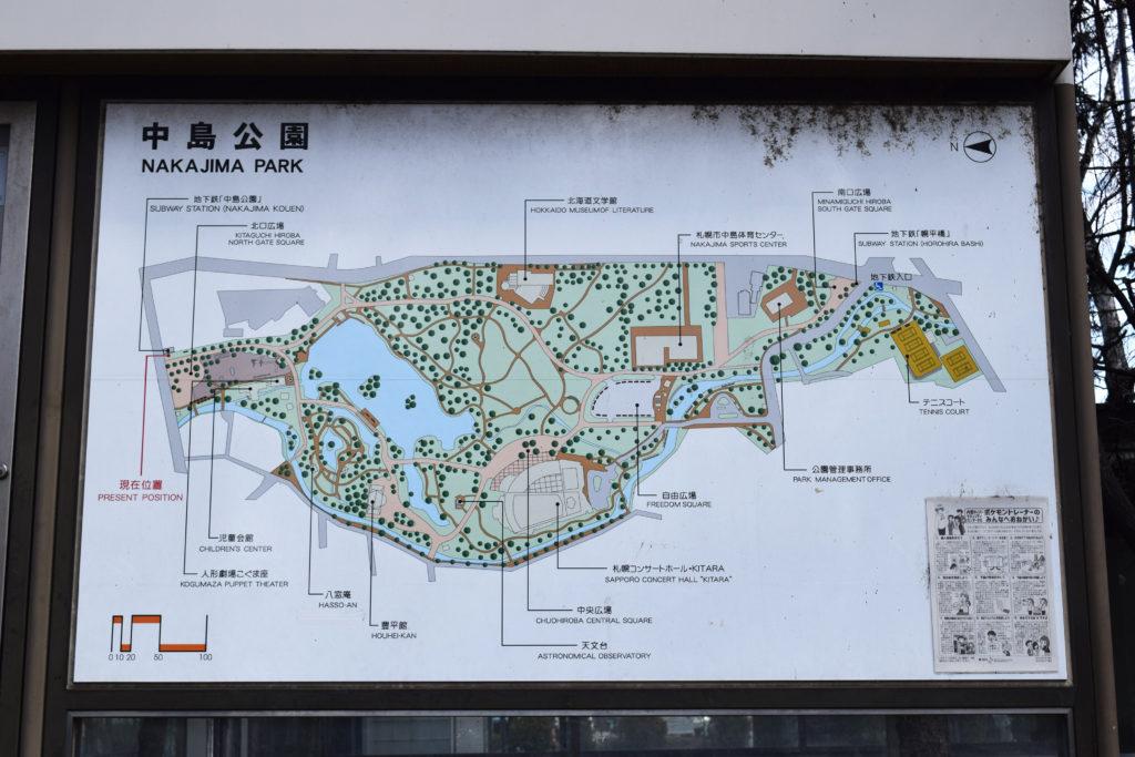 札幌中島公園の園内マップ