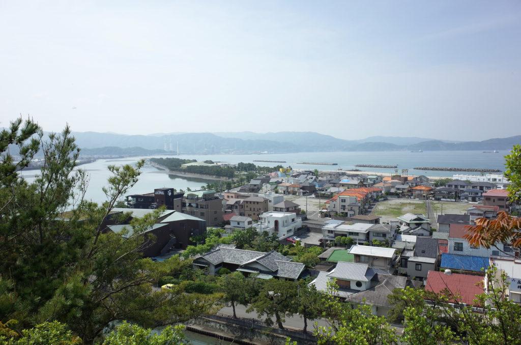 奠供山から見える和歌浦の眺望