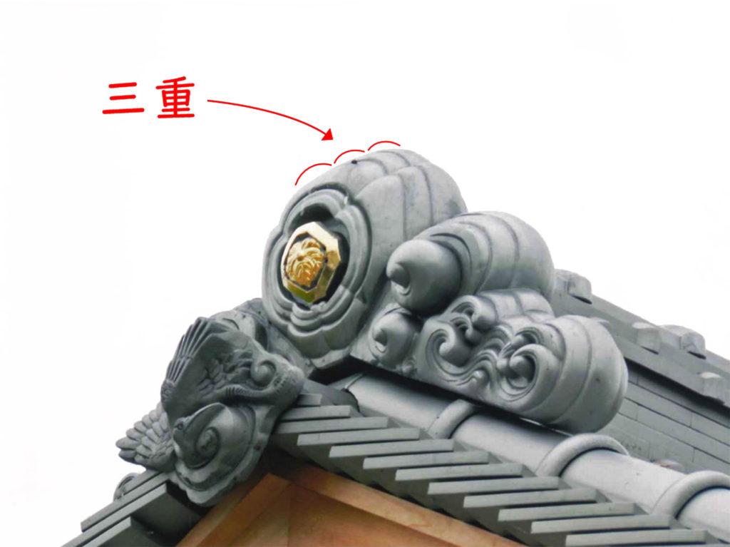 三重覆輪の鬼瓦