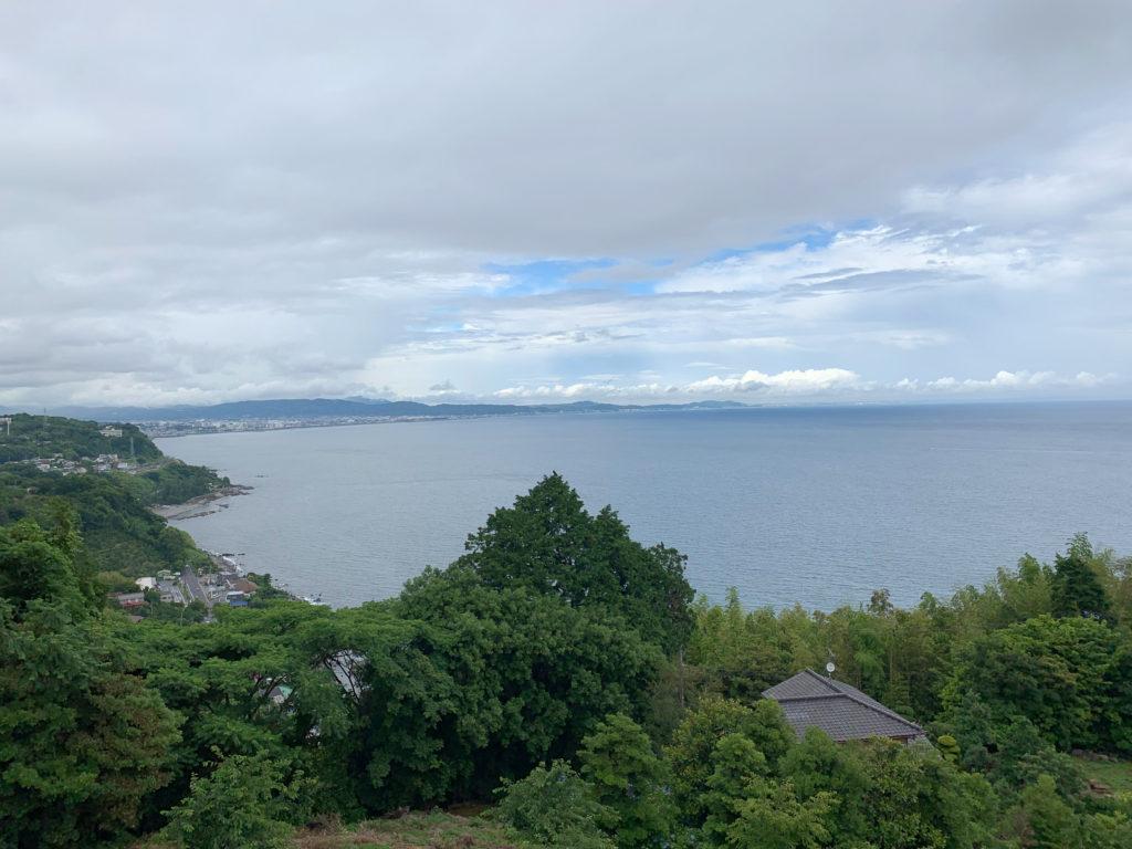 江之浦測候所の駐車場からの眺め