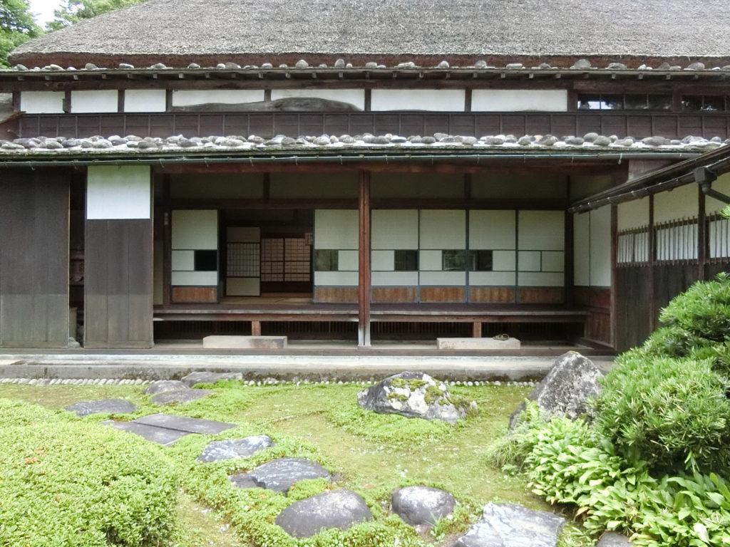 富山市国指定重要文化財浮田家住宅の庭園