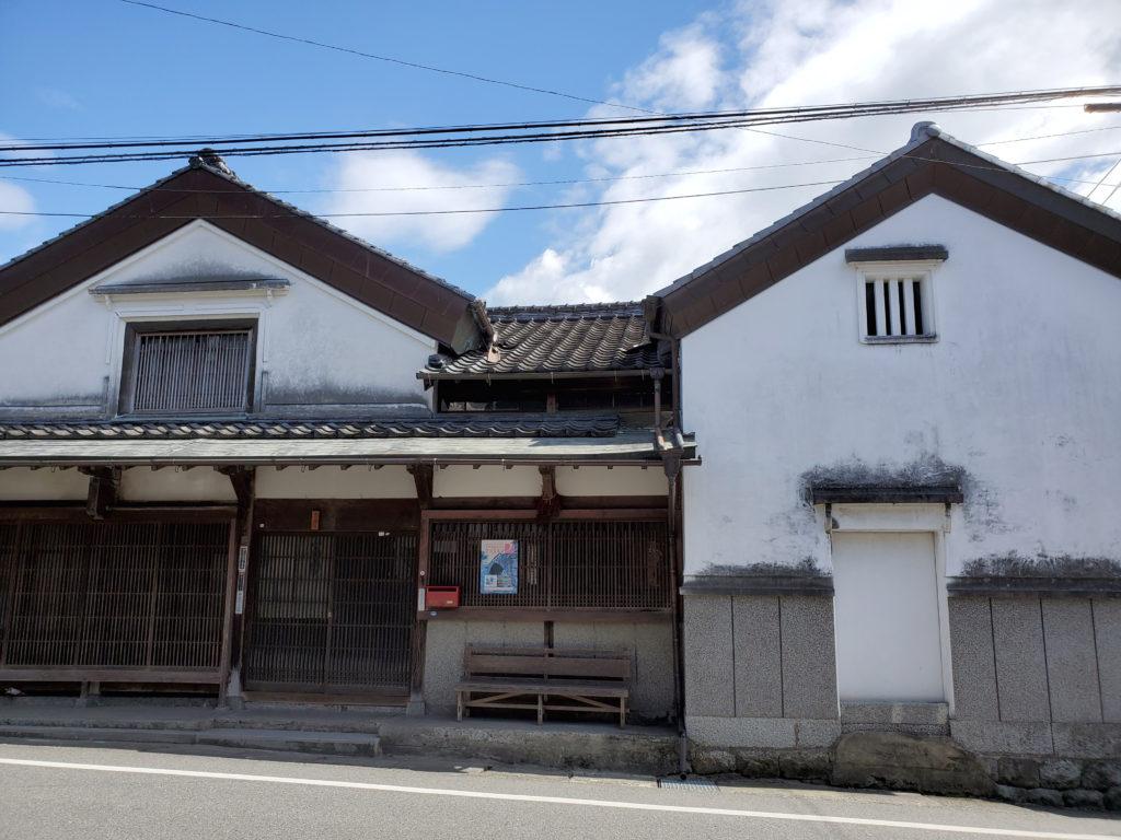秋月城下町の伝統的な家