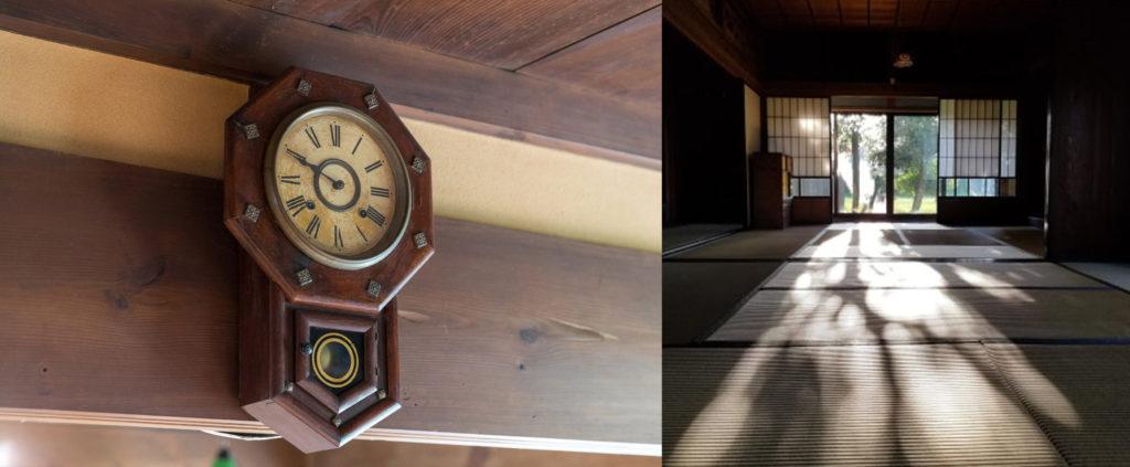 古時計と和室