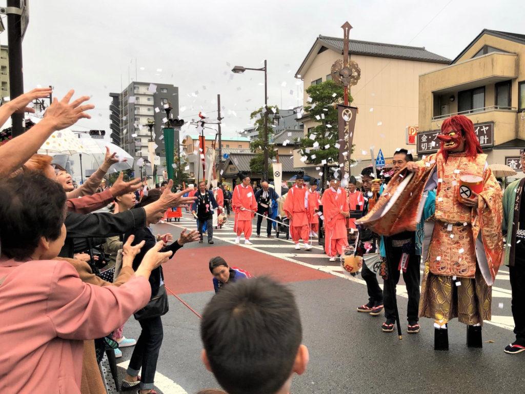 島田大祭の天狗姿の猿田彦