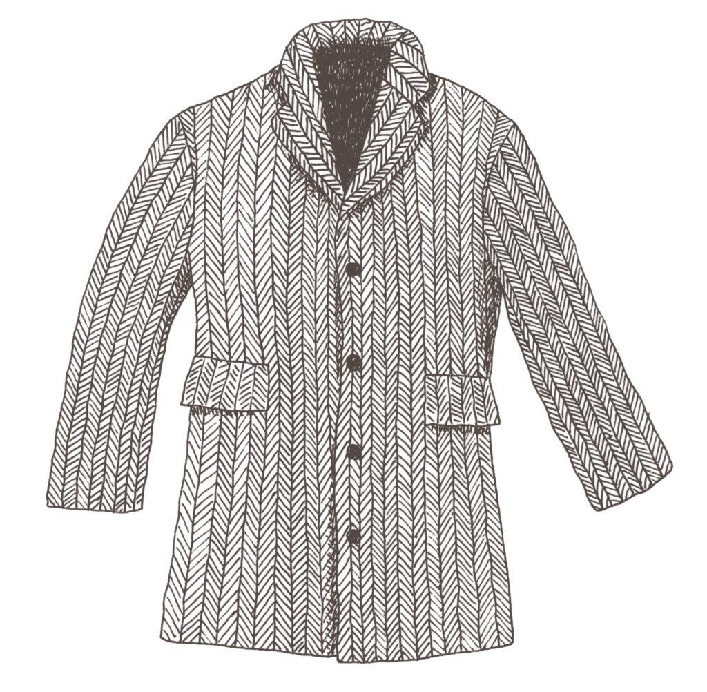 ヘリンボーン柄のコート