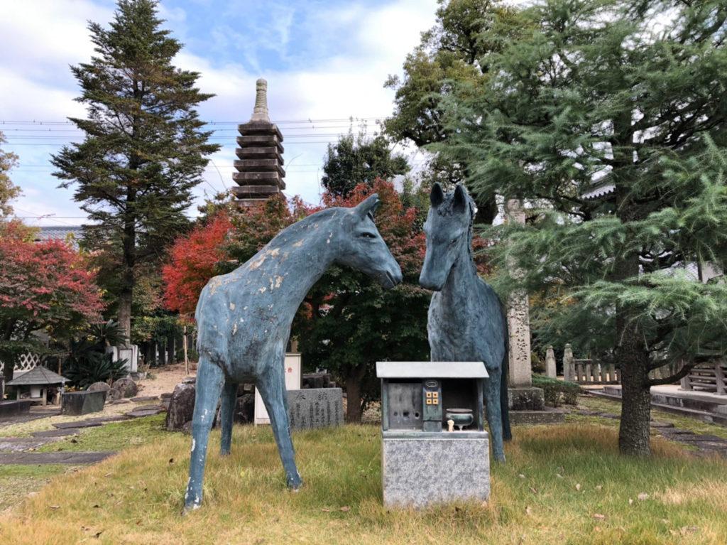 本山寺に祀られている馬の像