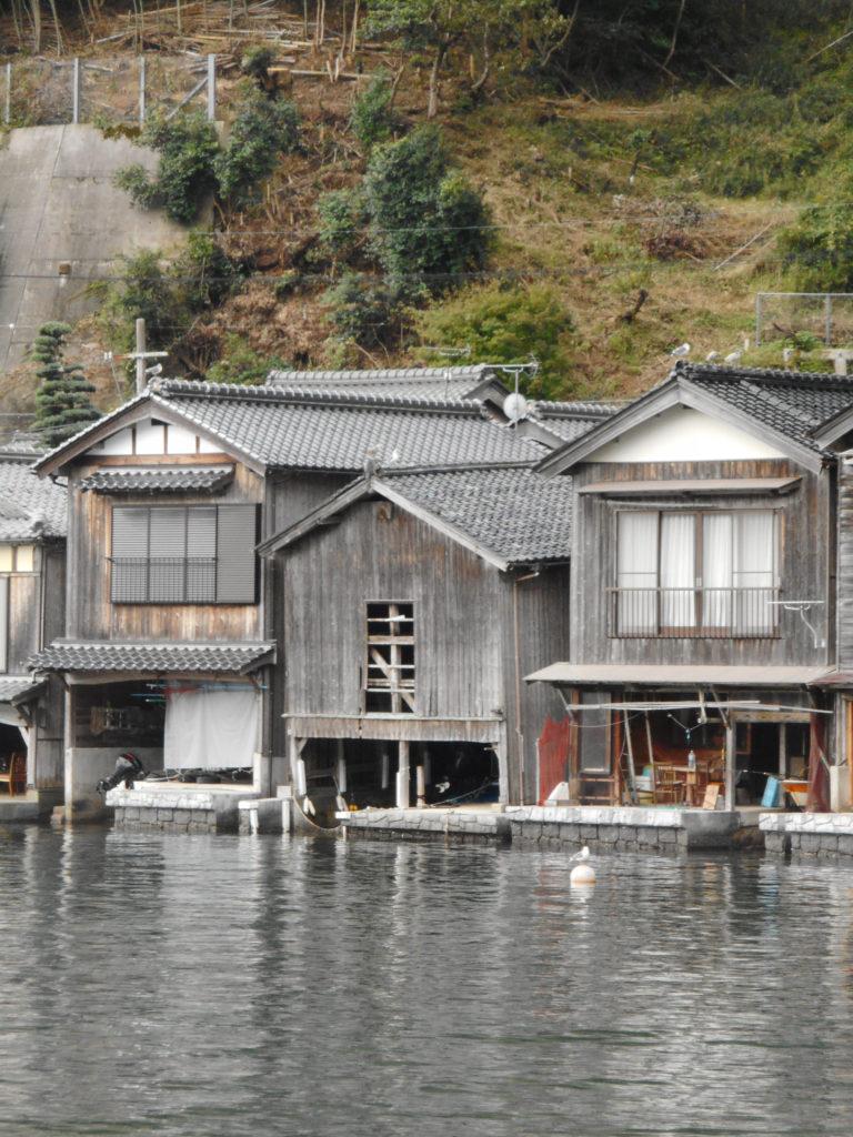 京都伊根の最古の舟屋