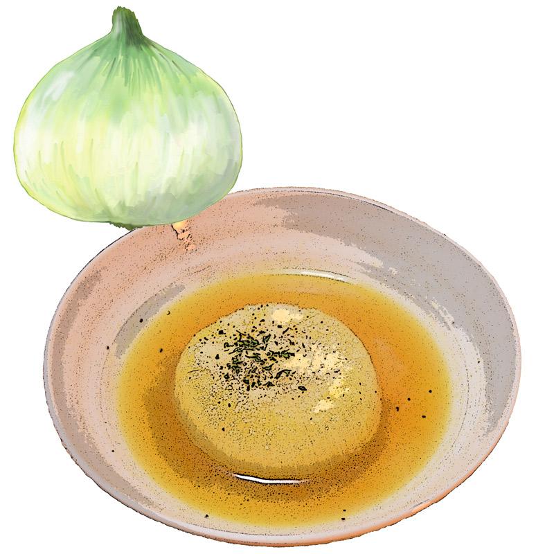新たまねぎのオニオンスープ
