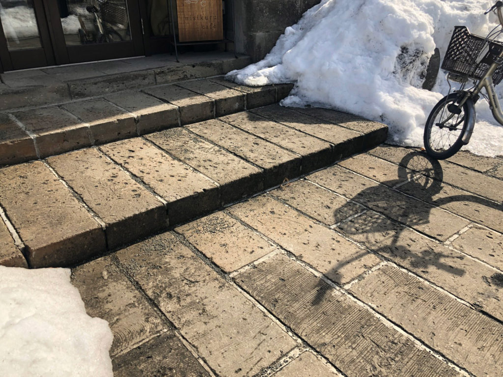 札幌軟石の石畳