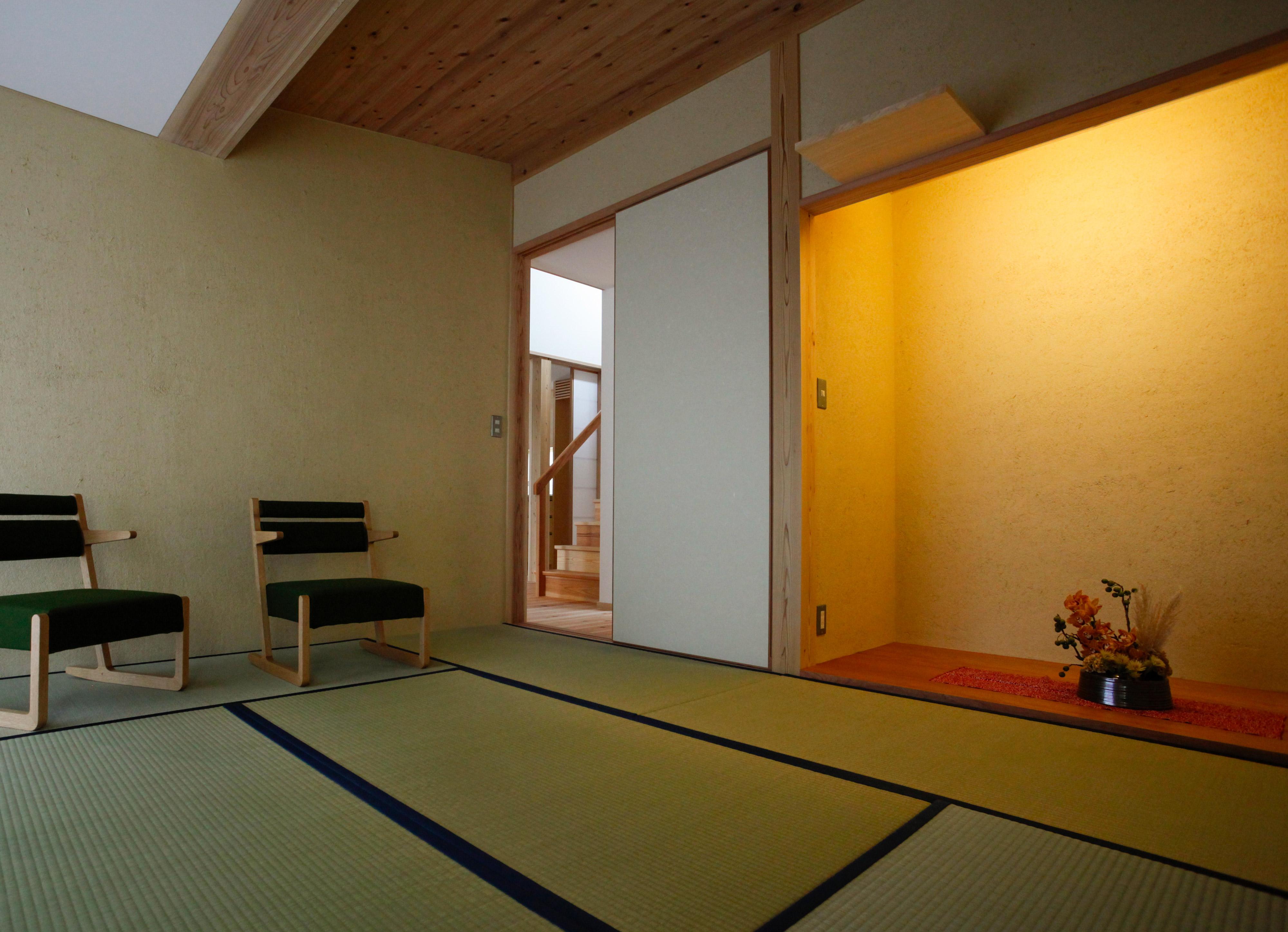 漆喰仕上げの和室