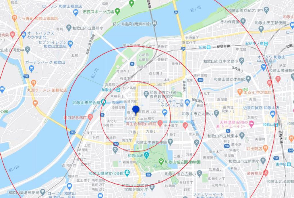 和歌山市地図